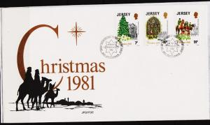 Jersey. 1981 FDC. Christmas. Fine Used