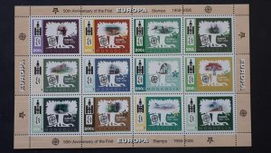 50th anniversary of EUROPA stamps - Mongolia - compl set of 12 in sheet ** MNH