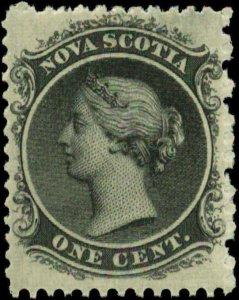 Canada, Nova Scotia  Scott #8 SG #9 Mint Never Hinged  Yellow Paper