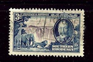 Southern Rhodesia 35 Used 1935 KGV Silver Jubilee