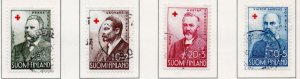 Finland Sc B138-41 1956 Red Cross charity stamp set used