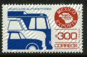 MEXICO Exporta 1136 $300P Cars/Bus Unwmkd Fosfo Paper 5 MNH