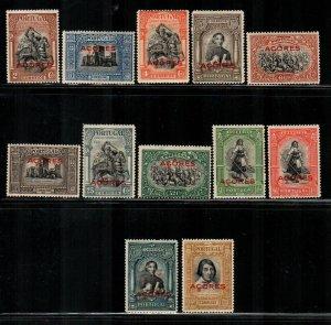 Azores #272-283  Mint  Scott $23.80