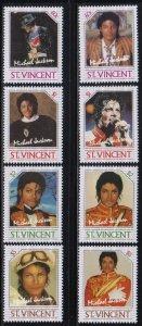 St. Vincent,  Michael Jackson (SC# 894a-897b) MNH SET