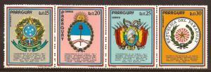 Paraguay  #  1448 b - e   Mint  N H