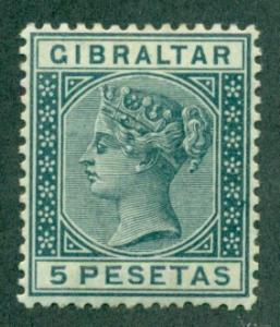 Gibraltar #38  Mint  VF VLH   Scott $52.50