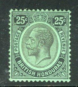 BRITISH HONDURAS; 1922 early GV issue fine Mint hinged Shade of 25c. value