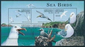[108798] Grenada Grenadines 1998 Sea Birds Terns Pelican Noddy Mini sheet MNH