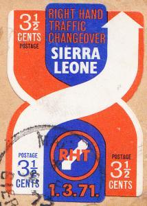 Sierra Leone #415  Used on Piece