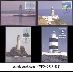 IRELAND - 1997 IRISH LIGHTHOUSES - SET OF 4 MAXI CARDS FDI