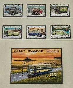 JE126) Jersey 2008 Transport Buses Part II M/S + (6) MUH. Price: $19.50