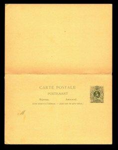 Belgium 1880s Reply Card Unused / Entire - L11168
