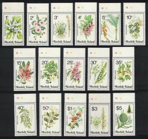 Norfolk Orchids Flowers 16v Top Margins SG#318-333 SC#323-338