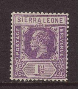 1925 Sierra Leone 1d Die II Mounted Mint SG132a