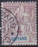 1892 French Guiana Scott 34 Navigation and Commerce used