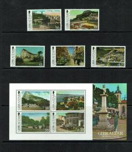 Gibraltar: 2012. Old Views of Gibraltar, (2nd series)  MNH set + M/S.