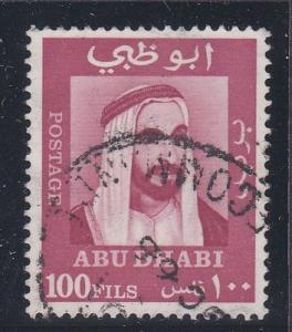 Abu Dhabi # 41, Sheik Zaid, Used, 1/3 Cat.