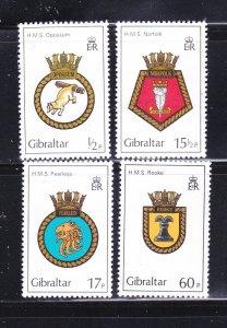 Gibraltar 431-434 Set MNH Royal Navy Crests (C)