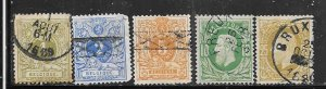 Belgium #40-44  (U)  CV 9.30