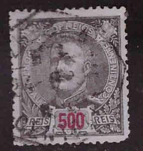 PORTUGAL Scott 131a perf 12.5 Used top value in 1895-1905 King Carlos set