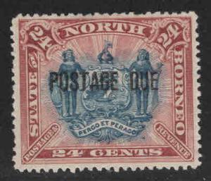 North Borneo Scott J8 MH* postage due, hinge remnant CV$40