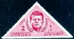 President John F. Kennedy, Jordan stamp SC#458 Mint