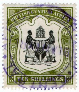 (I.B) Rhodesia/British Central Africa Revenue : Duty Stamp 10/- (Blantyre)