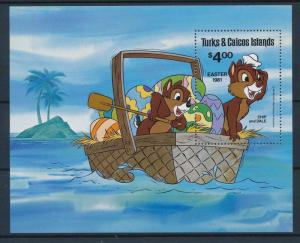[35464] Turks & Caicos Islands 1981 Disney Easter Chip and Dale S/S MNH