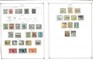 Niue 1902-1987 MNH & LH in Mounts (a few used) on Scott International Pages