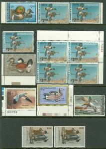 EDW1949SELL : USA Very clean lot of all VFMNH Ducks mostly $7.50 value Face $137