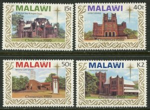 MALAWI Sc#558-561 1989 Christmas Complete Set OG Mint Hinged