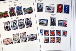 COLOR PRINTED FRANCE 1941-1965 STAMP ALBUM PAGES (55 illustrated pages)