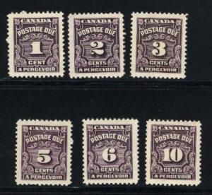 C J15,16,16B,18-20  Mint NH VF 1935-65 PD