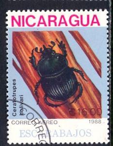Nicaragua; 1988: Sc. # 1728: O/Used CTO Single Stamp