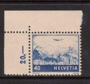 Switzerland #C44 VF/NH Corner Copy
