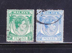 Malaya Penang 5, 15 U King George VI
