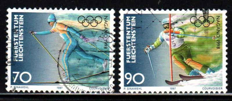 Liechtenstein # 1110-11 ~ Short Set 2/3 ~ Used, HMR ~ cv 2.25