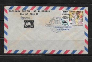 DOMINICAN REPUBLIC STAMPS,COVER ALIMENTOS 1974 #F38