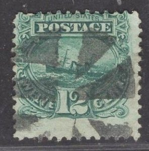 US Stamp #117 12c Green S.S. Adriatic USED SCV $130.00