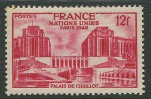 France - Scott 605 - General Issue -1948 - MLH - Single 12fr Stamp