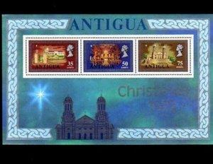 ANTIGUA - 1972 - QE II - CHRISTMAS - ST JOHN CATHEDRAL - MINT - MNH S/SHEET!