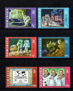 DOMINICA - 1970 - SPACE - APOLLO 11 - MOON LANDING  - ARMSTRONG ++ MINT MNH SET!