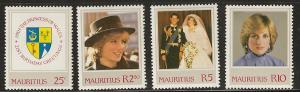 Mauritius  mh SC 548- 551