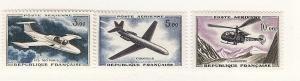 France, C38-40, Planes / Aircraft, Airmail Singles, Mint LH