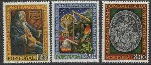 PORTUGAL SG1482/4 1972 POMBALINE UNIVERSITY REFORMS MNH