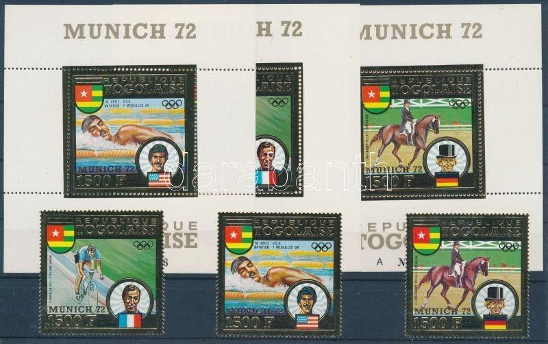 Togo stamp Munich Olympics medalists golden-foiled set 1973 MNH WS187095