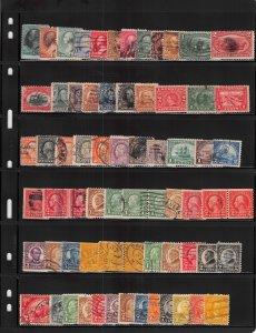 Lot of 126 U.S. Used Stamps Scott Range # 147 - 763 #139147 X