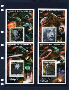 Madagascar 1999 Albert Einstein-MOTO HARLEY DAVIDSON  (4) SS Perforated MNH