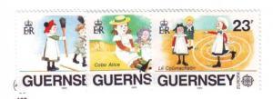 Guernsey Sc  401-3 1989 Europa stamp set NH