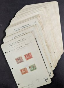 EDW1949SELL : POLAND Very clean Old Time Dealer's Display Book. Scott Cat $1,006